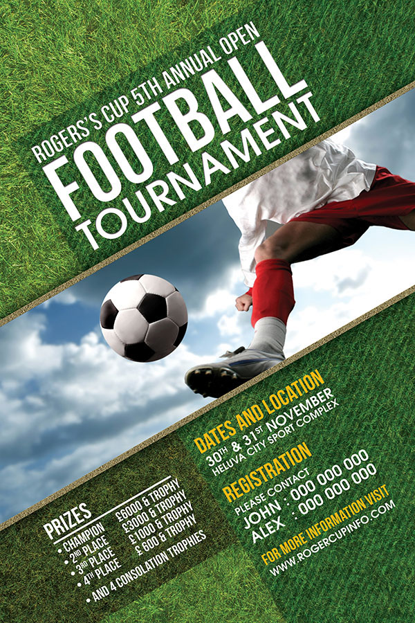 Football Tournament Flyer On Behance