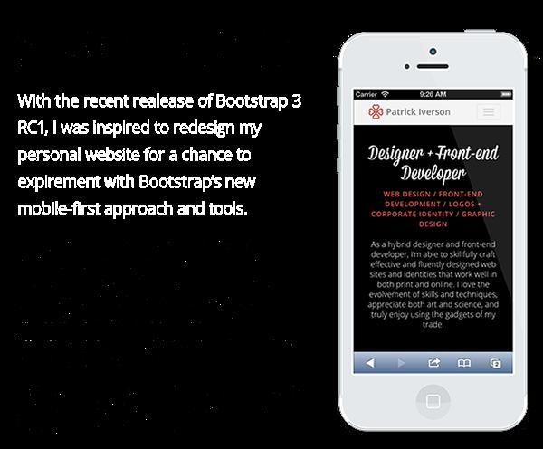Experimental Responsive Bootstrap Portfolio Website on Behance