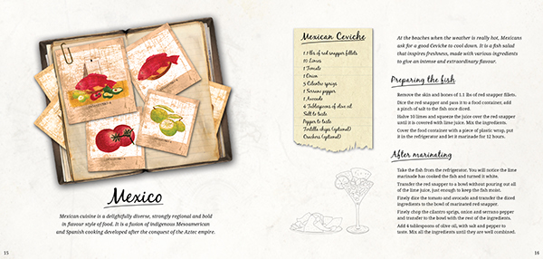 Recipe book page layout on Behance