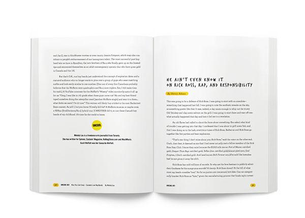 magazine long-form journalism Layout type setting template creation