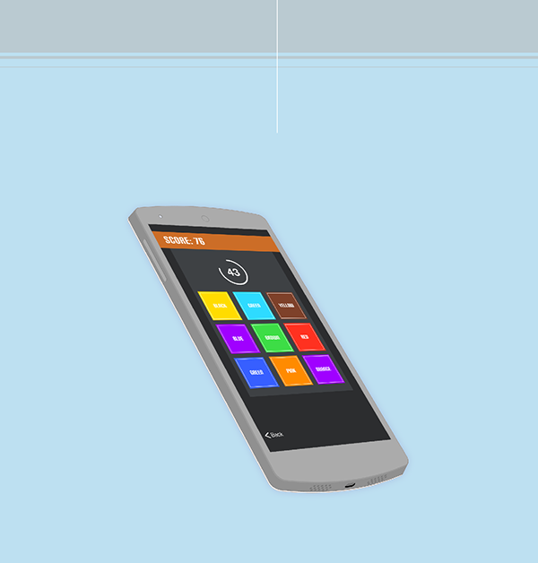 stroop effect app mobile game flat ux UI android game