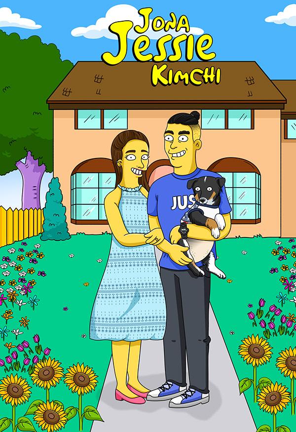 Custom Simpson Couple
