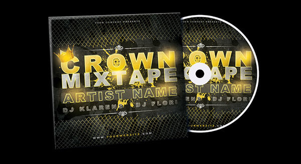 Crown Mixtape Cd Cover Free Psd Template On Behance