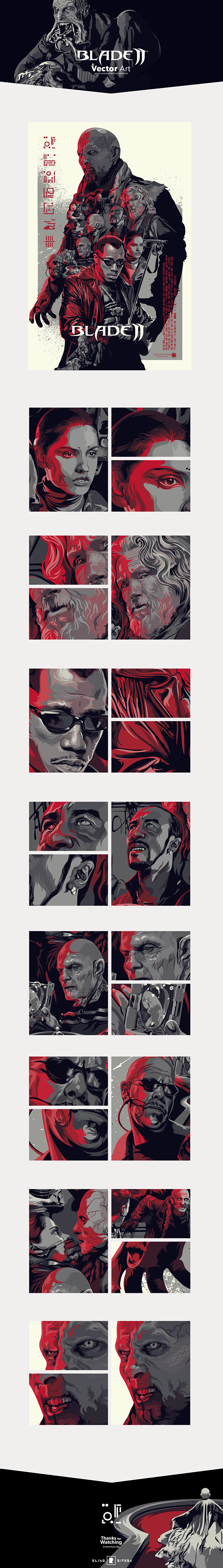 Blade II • Vector Art by Eliud Rivera