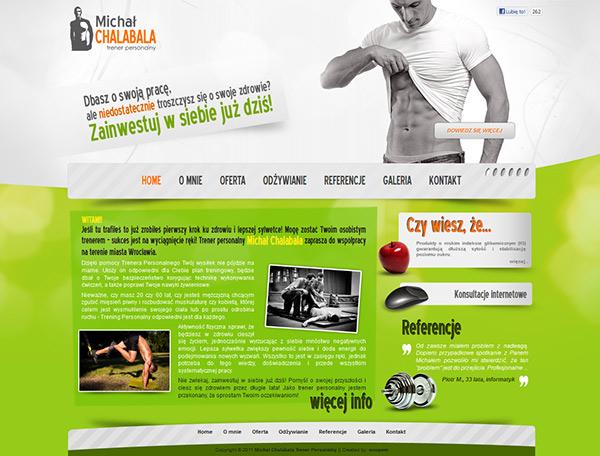 personal trainer website design on behance