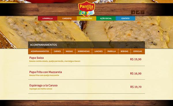 Website Parrilla Del Sur (2013)
