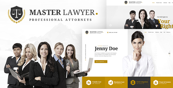 Master Lawyer PSD Template on Behance