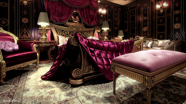 Royal master bedroom on behance Royal purple master bedroom