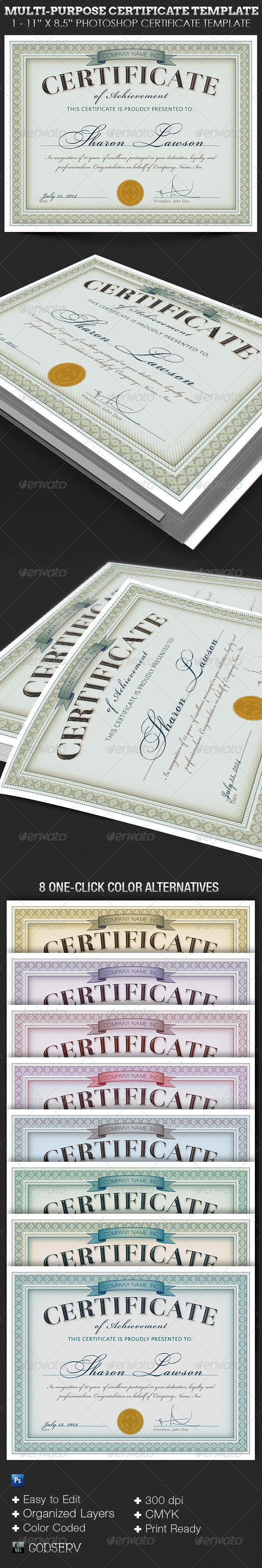 Multipurpose certificate template on behance alramifo Gallery