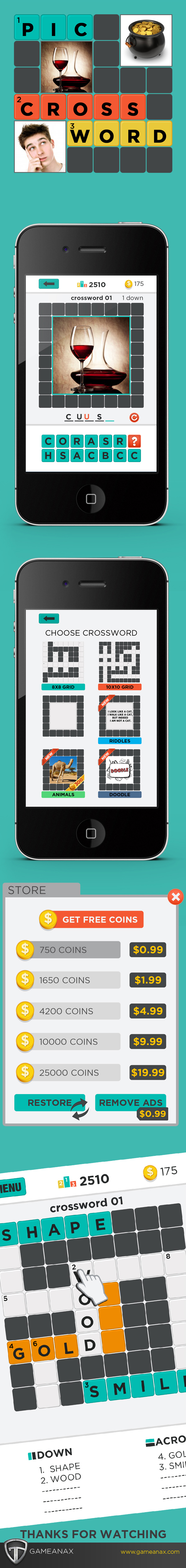 mobile gaming Gaming Games UI ux iPad iphone puzzle word puzzle
