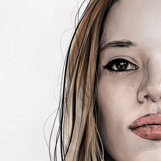 ILLUSTRATION  portrait draw sketch Digital Art  Drawing  photoshop sketchbook wacom