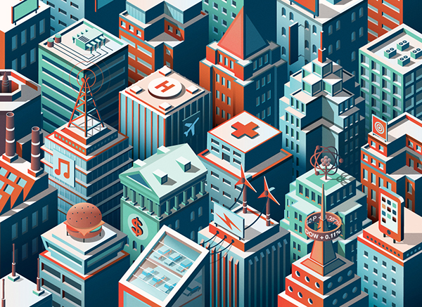 FORTUNE 500 - Industry rankings illustrations