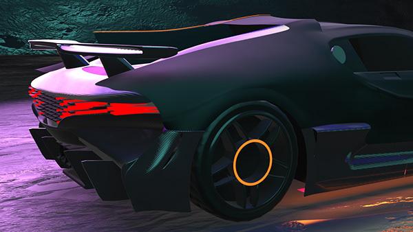 Bugatti Divo (Tron theme)