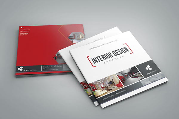 Interior Design Brochure Catalog Square Version On Behance