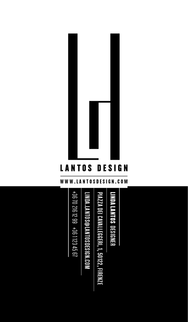 Black And White Calling Card Calling Card in Black And