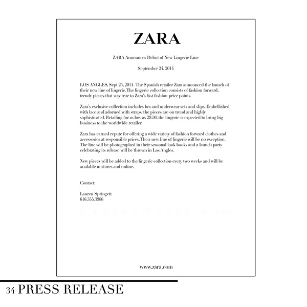 Product Development: Private Label Lingerie For Zara On