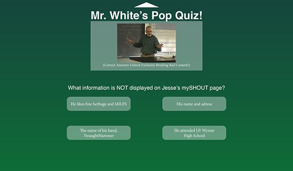 Breaking Bad Quiz UI on Behance