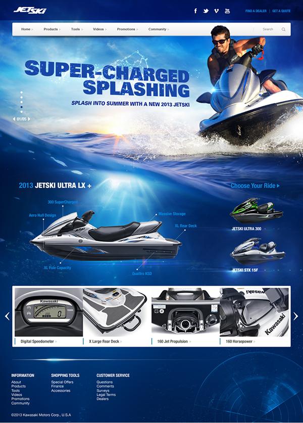 action sports interface design Kawasaki