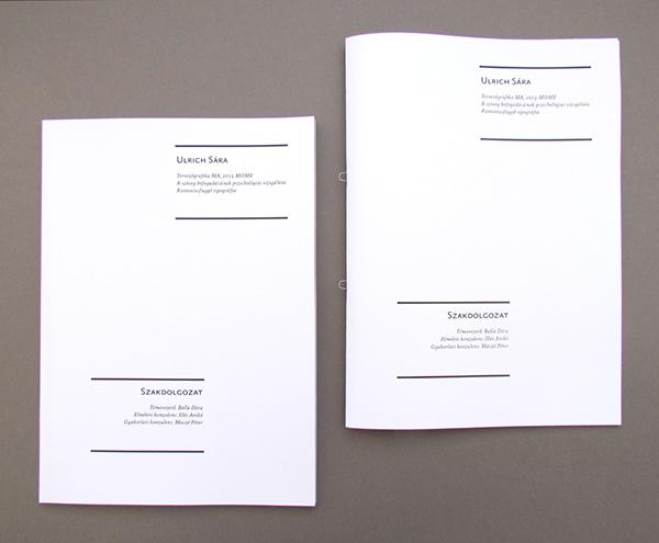 Dissertation style layout