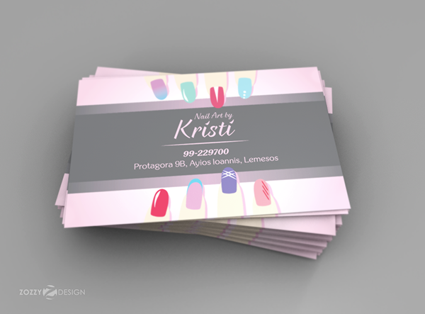 Kristi Nail Art Business Card On Student Show