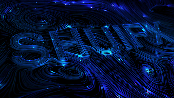 Houdini typography design by Shuifx Chen