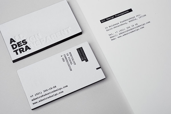 minimal,black,business card,stationary,Invitation,design,studio,adestra,transparent,Russia,cotton,letterpress,foiling,embossing