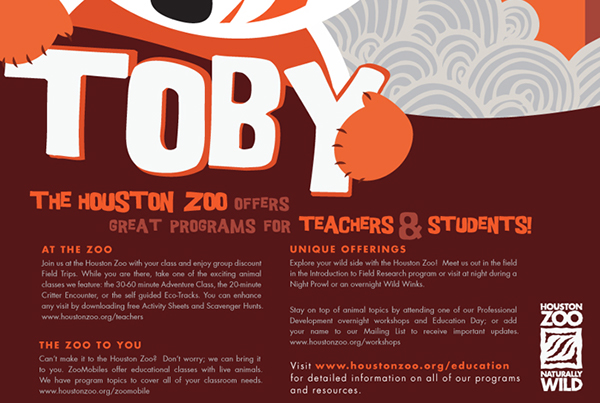 Houston Zoo Education Poster 2010 on Behance