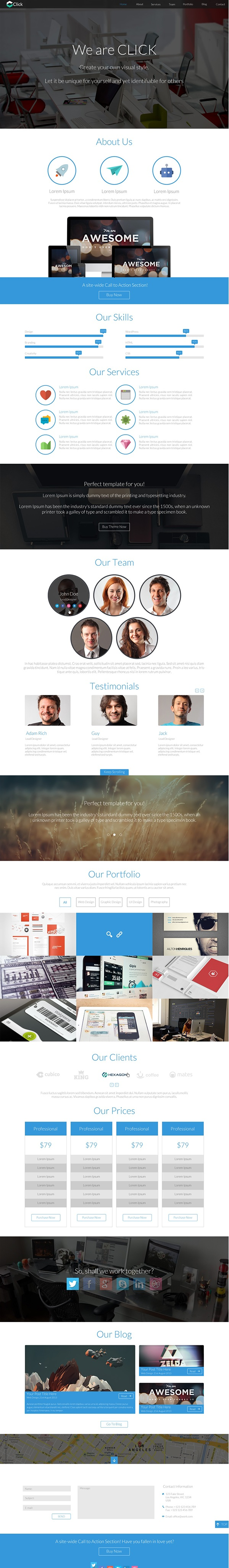 Fully Reponsive Design - Retina Ready - Template Created using HTML5/CSS3 and Bootstrap 3.0 - Revolution Slider Included ($12) - Font Awesome Included - Filtered portfolio - Parallax Effect - Working Ajax contact form with validation - Nice Hover Effect - CSS3 Animations -