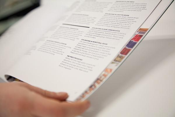 graphic design program booklet on behance