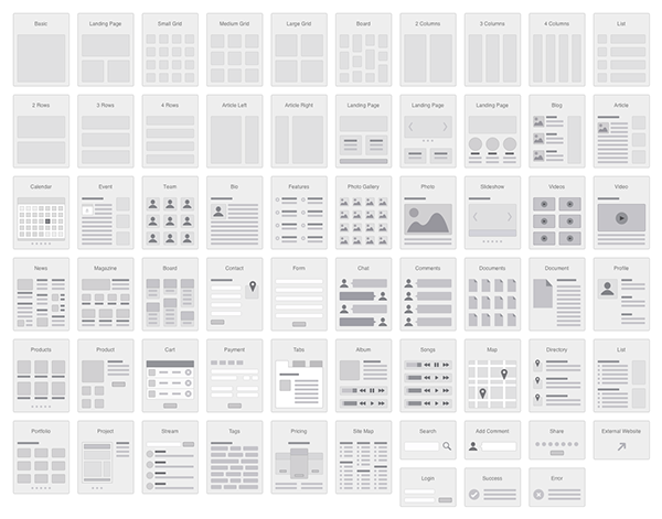 4 column grid for easy editing and snapping flowcharts not only demonstrate the architecture and interactions on a website but also show a general - Best Omnigraffle Stencils
