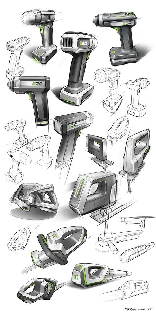 Power tool sketches on behance for Products to design