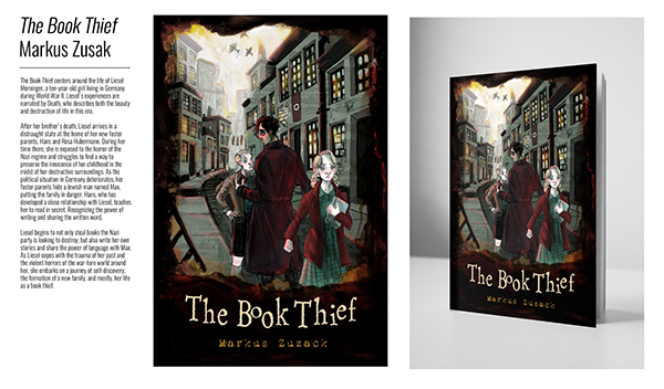 Book Thief Cover Art : The book thief cover redesign on scad portfolios