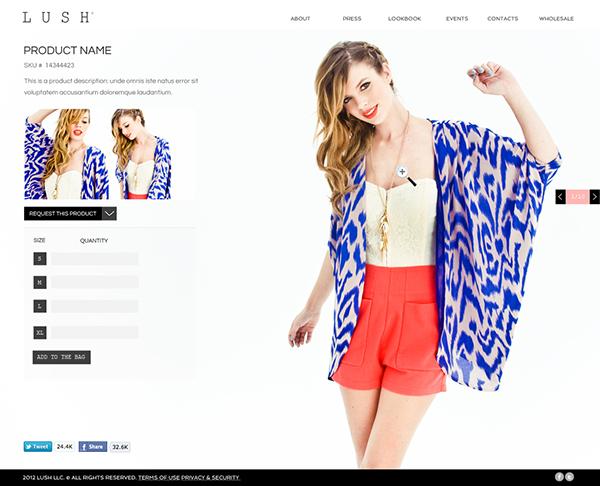 Clothing  fashion RJ esperon   rufino   Photography  web desgin dress user interface  user experience  design designer lush lush clothing  high fashion