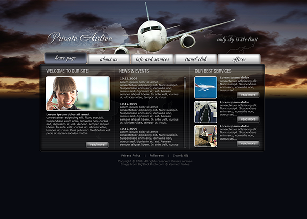 Private Airline Dynamic Flash Template