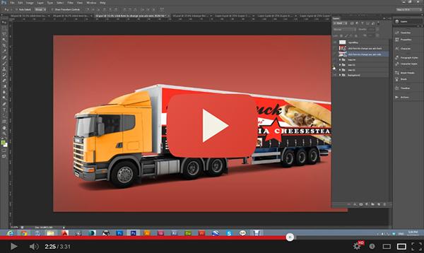 Billboard mockup billboard business corporate design Display mock mock-up Mockup mockup presentation presentation print Responsive Truck truck mockup