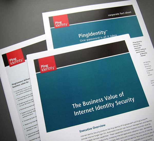 Ping Identity brand update on Behance