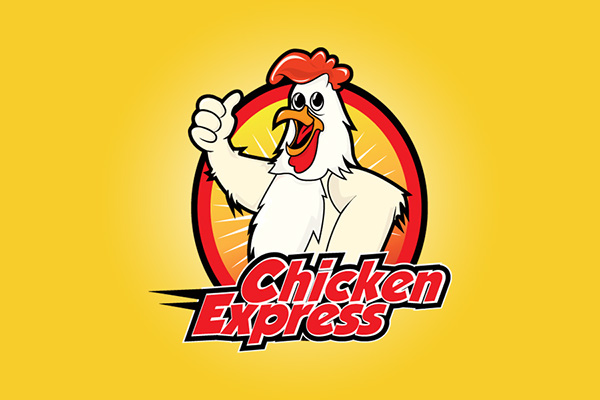 chicken express logo on behance rh behance net