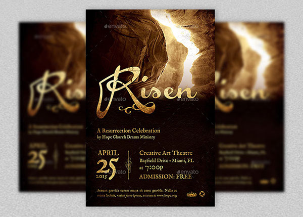 Risen Church Flyer And Poster Template On Behance