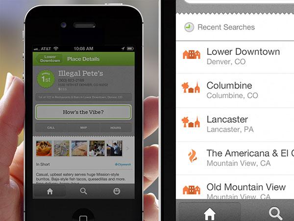 MapQuest  AOL  UI  UX  iphone  iOS  local