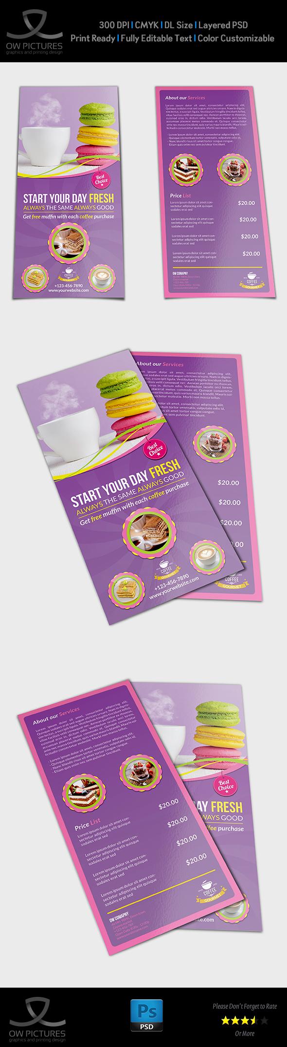 Cafe Flyer DL Size Template On Behance - Dl size flyer template