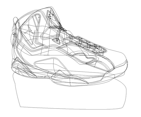 Great Illustration   Basketball Shoe Vector Drawing On Behance
