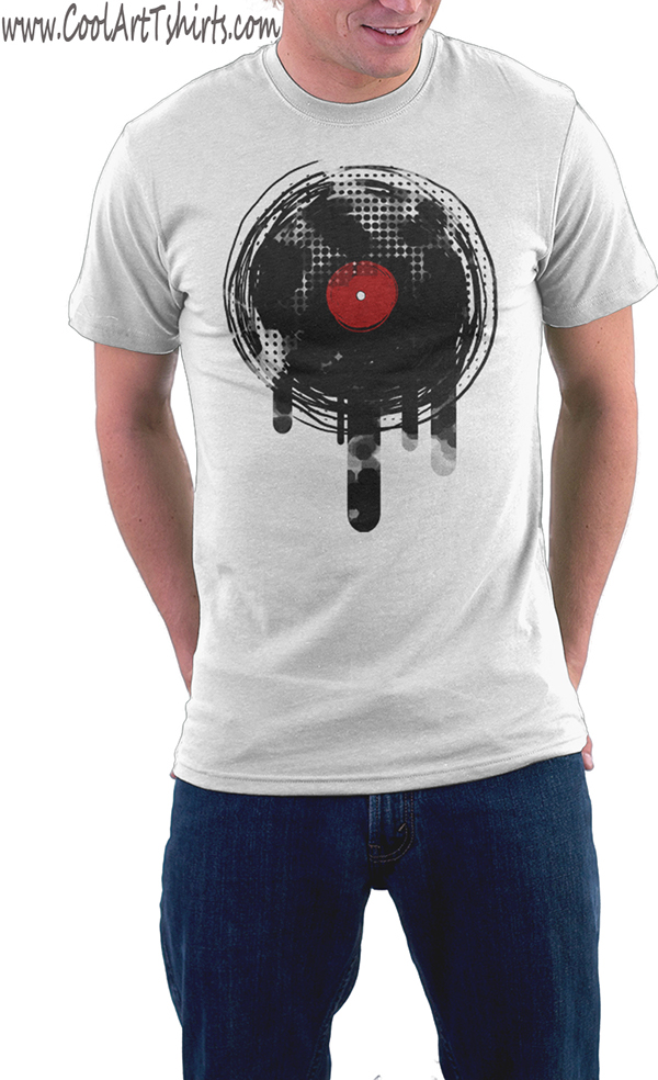 13 vinyl record t shirts retro grunge vintage music on for Vintage record company t shirts