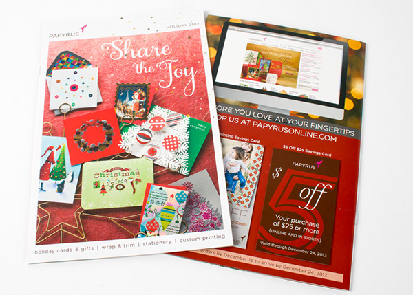 savings cards that accompanied the papyrus holiday 2012 catalog - Papyrus Holiday Cards