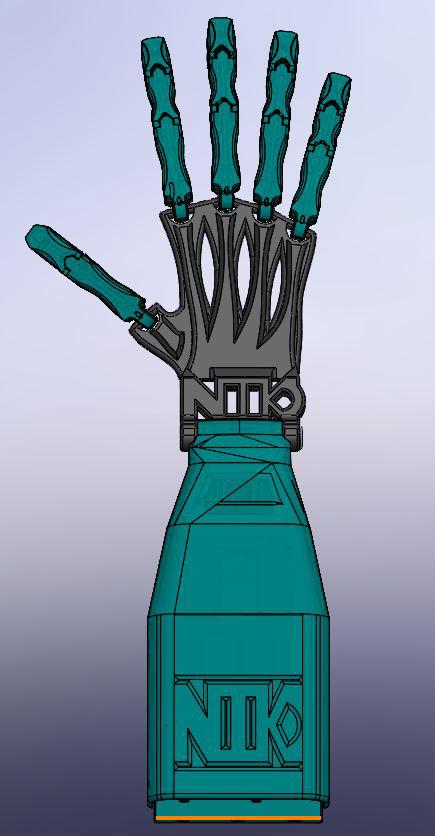 robot arm hand human Prehensile 3d print robotic servo design Arduino
