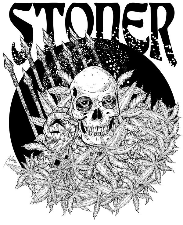 Skull Smoking Weed Drawing Skull Smoke Weed And Stoned