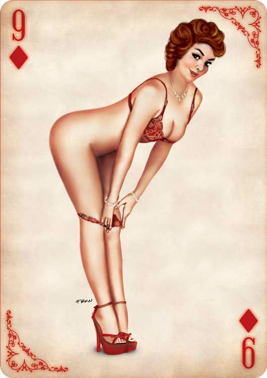 Днем рождения, картинки игральные карты с девушками