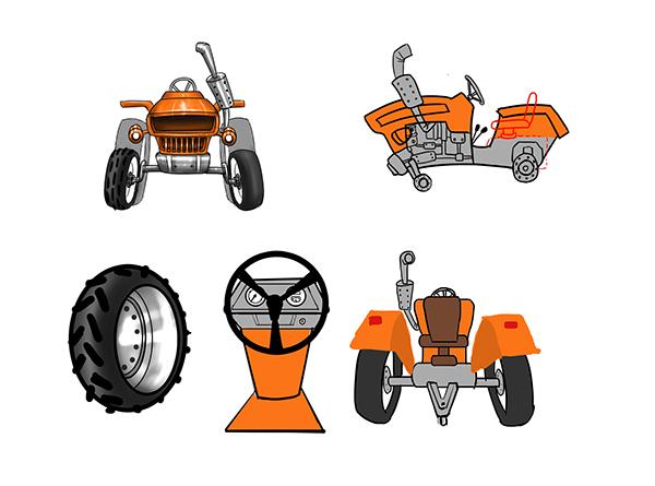 Tractor home car 3D model model
