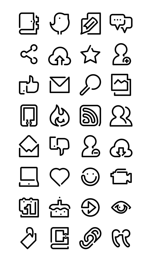 One Line Icons on Behance