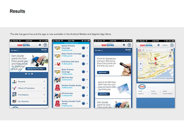 Esso Extra Mobile Site & App
