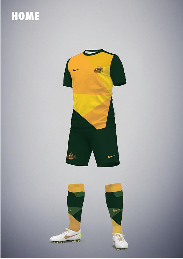 Nike Australia Football Kit on Behance 25c7f0d29